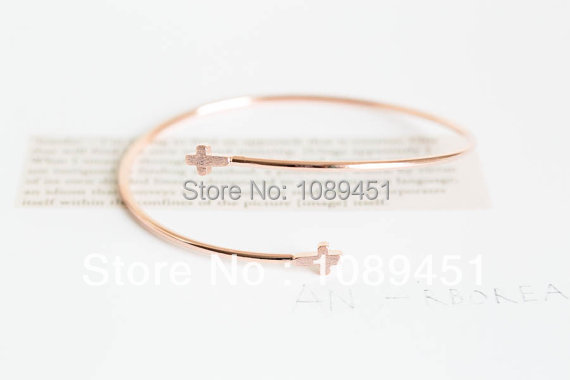 2014 New Arrival Fashion stretch double cross bracelets in Silver/Gold/Rose Gold 30pcs/lot Best Gift Free Shipping Drop Shipping<br><br>Aliexpress