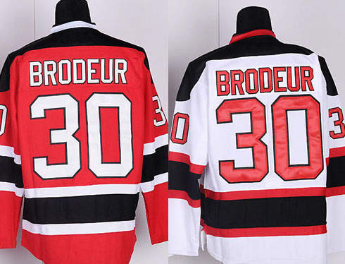 Men's New Jersey Devils #30 Martin Brodeur Jersey Home Red hockey jersey,stitched,Top quailty(China (Mainland))