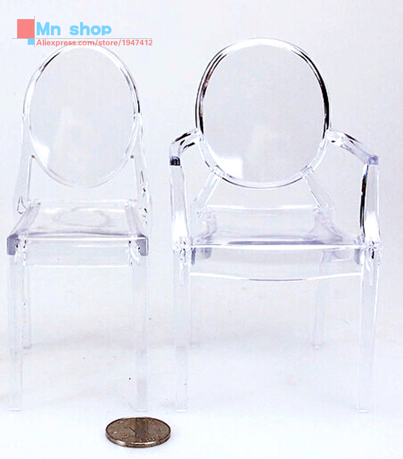 [Only a chair]1/6 Soldier Model Scene Accessories Toys Transparent Bar Stool Fit 12'' Action Figure P20(China (Mainland))