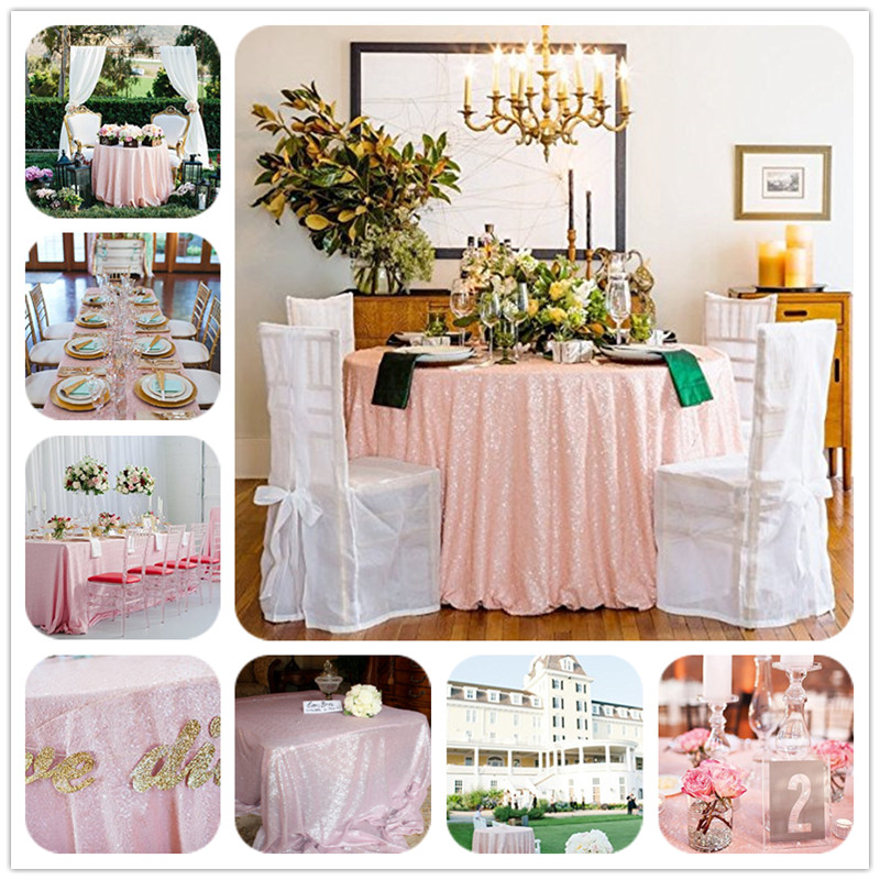 120 Inch Round Wedding Sequin Cake Tablecloth for Wedding/Event/Party/Banquet Table Decoration(China (Mainland))