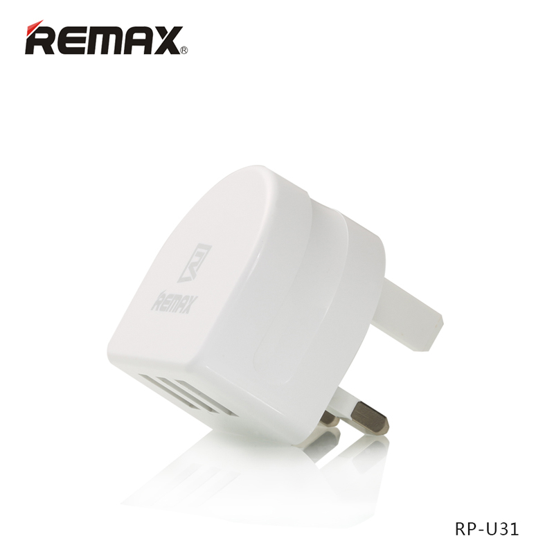 Original Remax RP-U31 USB Charger USA Flat Pins / EU Round Pins / UK Square Charger Pins Optional 3 USB Ports Wholesale 5pcs/Lot<br><br>Aliexpress