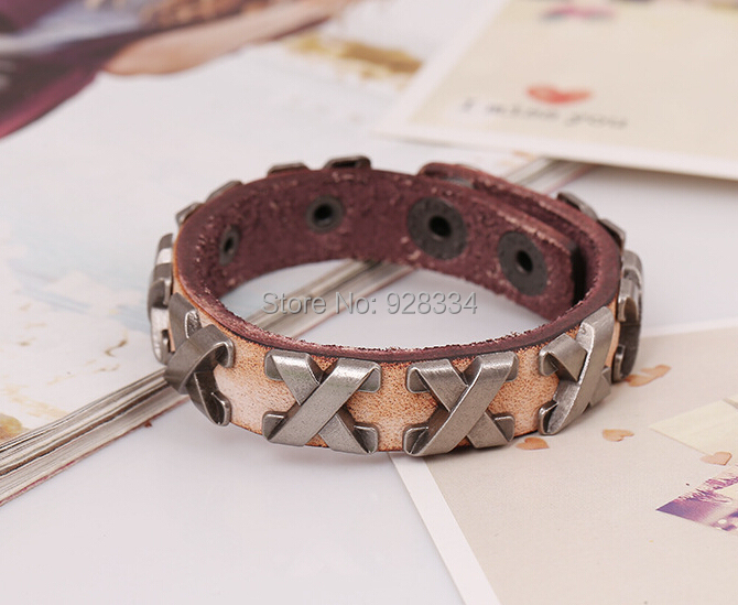 FREE SHIPMENT,Fashion Leather Braided Bracelet Punk Mens Jewelry Bangle - First-Rate store