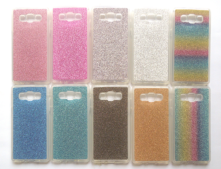 Samsung A3 A5 A7 A8 Case Soft Silicon Bling Rainbow Glister Shining Smart Phone Protective Cover Shell Samsung Galaxy A7
