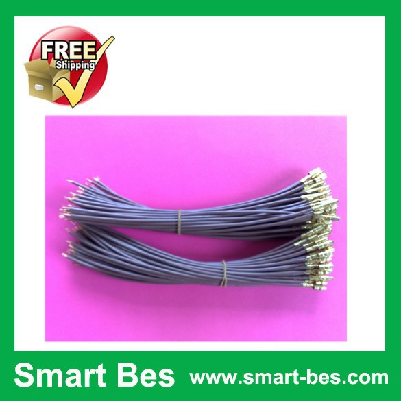 Free Shipping~~Excellent Quality  100pcs/lot  Power Cables,Connect wire,Electronic Cable, line length 180 mm ,bullet terminals<br><br>Aliexpress