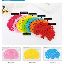500pcs/lot colorful Big tree shape Felt Cup mats,potholder DH16(China (Mainland))