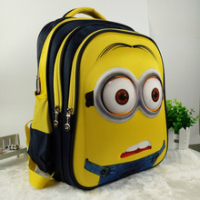 16 inch New Fashion Despicable Me 2 Kids Cartoon school bags child Backpack Minions schoolbag 6-12Y Kids cute bags(China (Mainland))