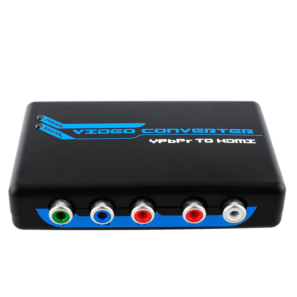 Component Video RGB YPbPr/VGA + to HDMI Converter Adapter 1080P US Adapter for PS3 Xbox Free Shipping(China (Mainland))