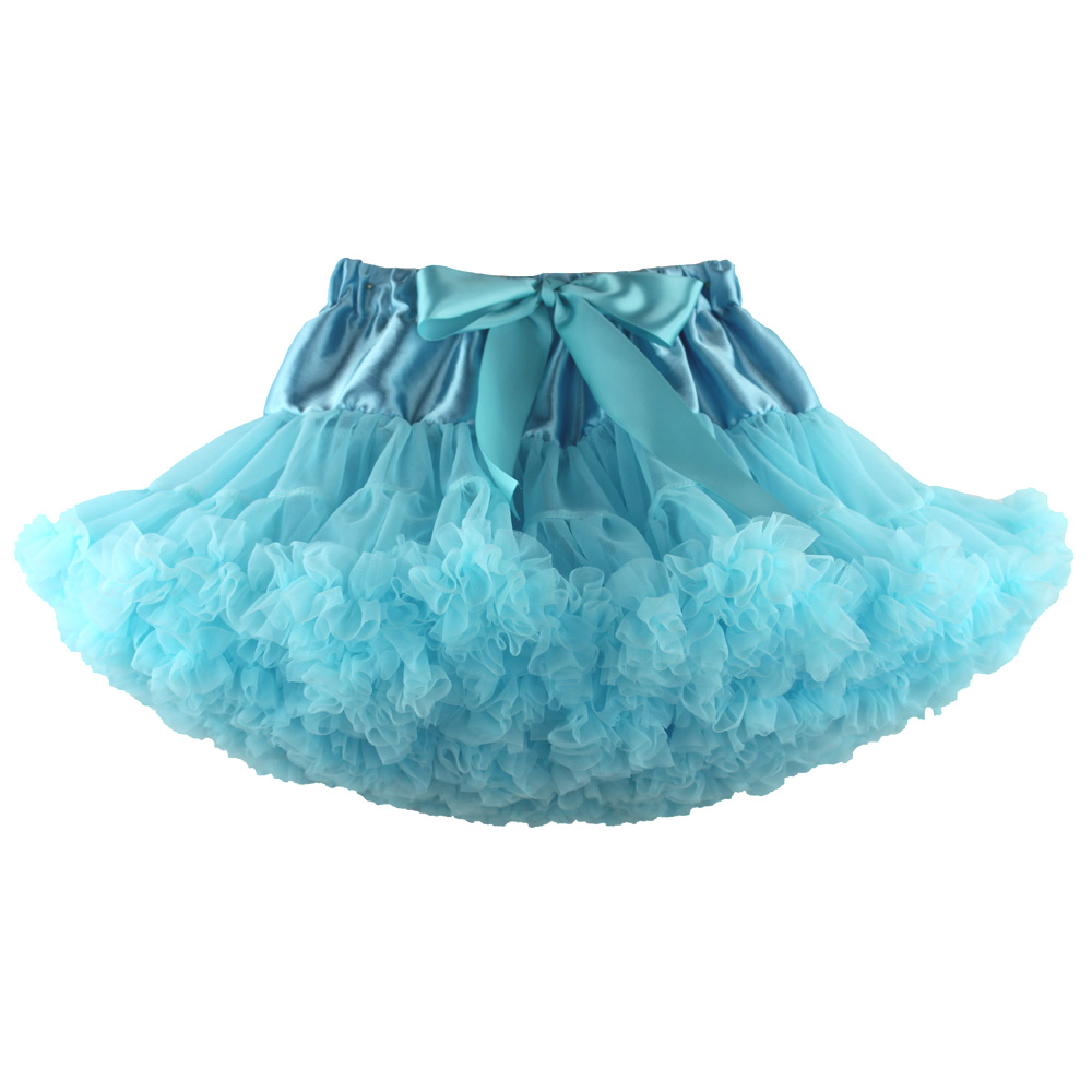 light blue tutus skirt children summer pettiskirts