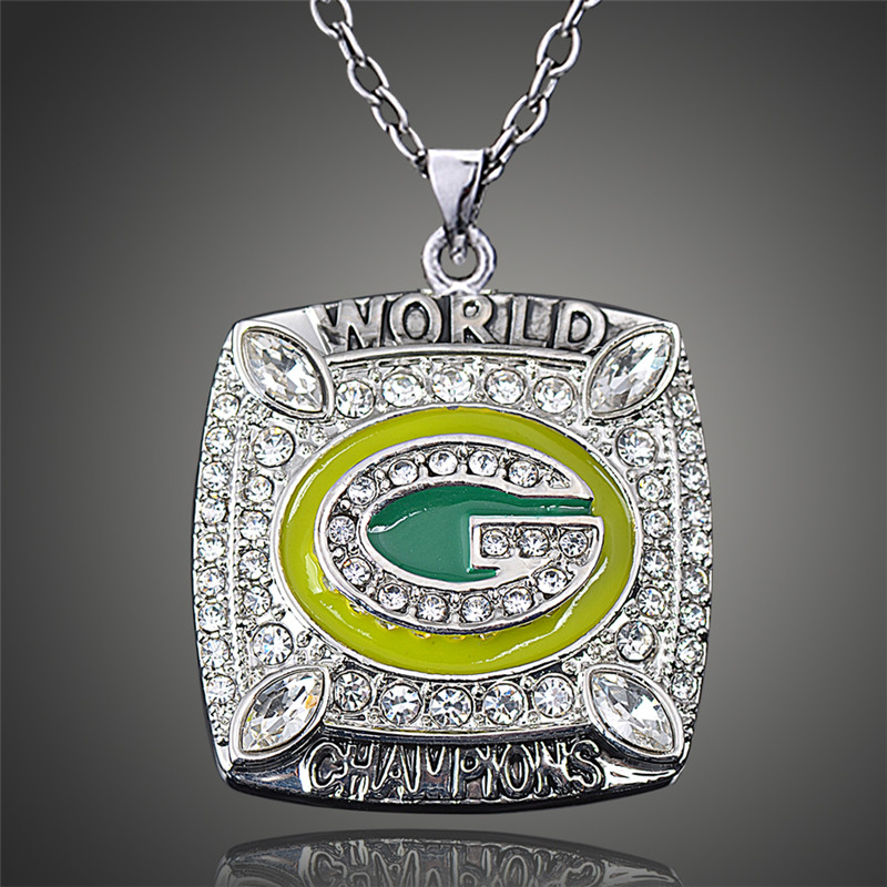 Awesome Wisconsin Green Bay Packers Aaron Rodgers Replica Super Bowl Sports Men Pendant Necklace D00515(China (Mainland))