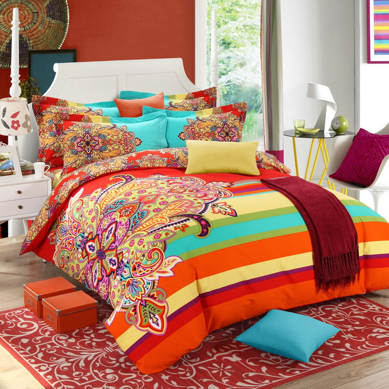 100% Cotton Fabric British Plaid printing 4PCS Bedding set Bedclothes Bed linen Duvet cover/Bed sheet/Pillowcases supplier(China (Mainland))