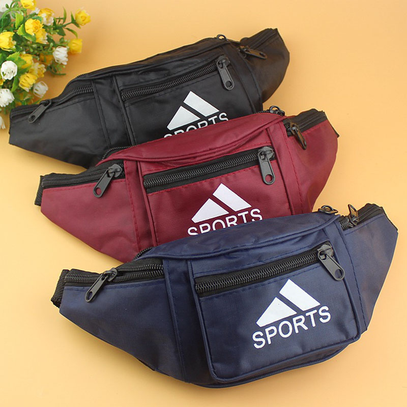 Unisex Running Bum Bag Travel Handy Hiking Sport Waist Belt Zip Waterproof Pack Money Belt Pouch