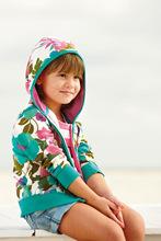 Brand 2015 New Autumn Girls Floral Print Hoodies Fashtion Jacket for Children outwear Hoodies & Sweatshirts Free shipping(China (Mainland))