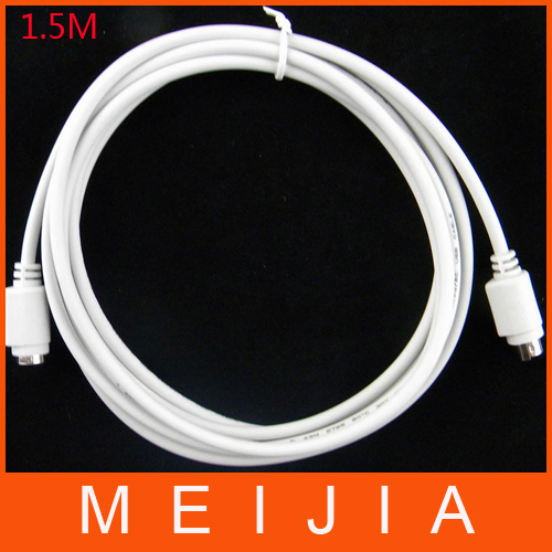 100pcs / lots 1.5m PS2 PS/2 Keyboard Mouse PS2 Extension Cable 6 pin PS2 Male to Female(China (Mainland))