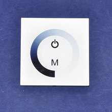 nuovo bianco / nero colore shell dc12v / 96 w 24 v / 192 w anodo comune 1ch uscita 8a wall-munted tipo touch panel led dimmer regolatore(China (Mainland))