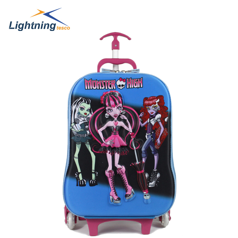Hot Selling New 2015 Fashion Travel Bag Cute rolling luggage kids luggage suitcase for girls and boys fashion school bags(China (Mainland))