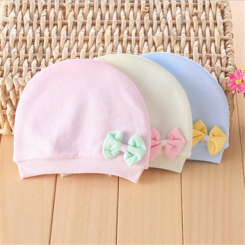 Autumn Winter Solid Baby Hat Cap Lovely Bow Newborn Infants Hats Lovely Baby Beanies Accessories<br><br>Aliexpress