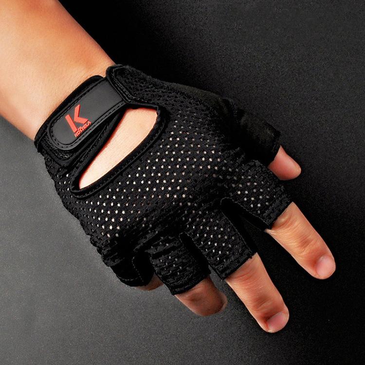 1 pair 2016 hot sale Outdoor womem&men non-slip Warm breathable Running Gloves Sports half Gloves training shockproof gloves