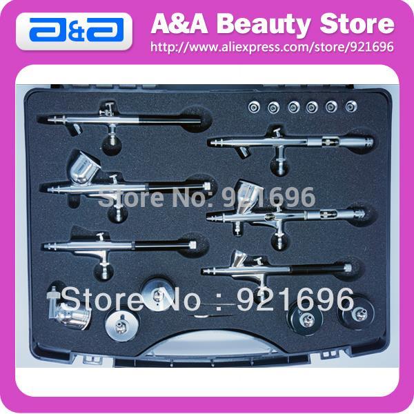 Здесь можно купить  Professional Airbrush Kit with 6pcs Different Airbrushes, One Kit meet all your Airbrush Need!  Инструменты