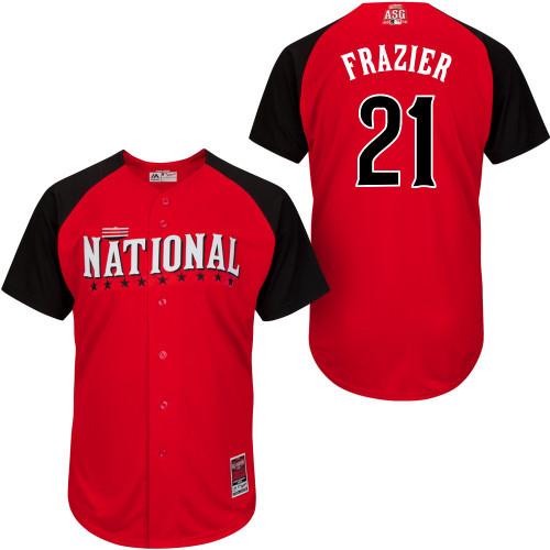 2015 All Star Cincinnati Reds Mens Jerseys National League #21 Todd Frazier Red BP Baseball Jersey Sewing Logos 4642(China (Mainland))