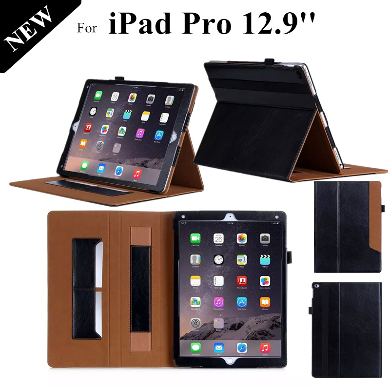 Luxury Ultra Thin Leather Case For Apple iPad Pro 12.9 inch Hand Holder Tablet Case For iPad Pro Flip Cover With Card Slot <br><br>Aliexpress