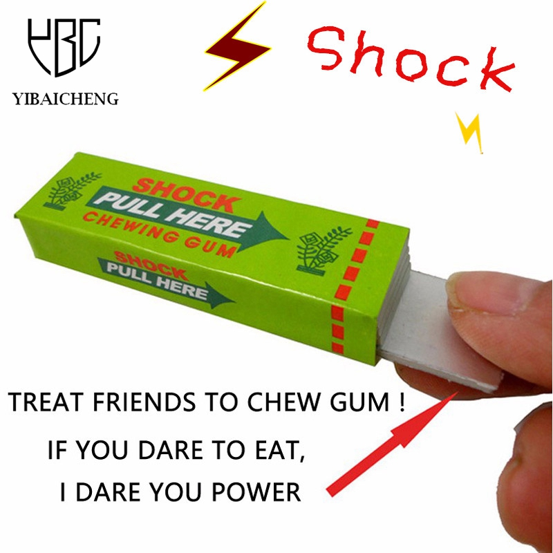 Safety Trick Joke Toy April Fool Funny Shock Shocking Chewing Gum Pull Head Jokes Toys Gags Practical Jokes Children Scary Toys(China (Mainland))