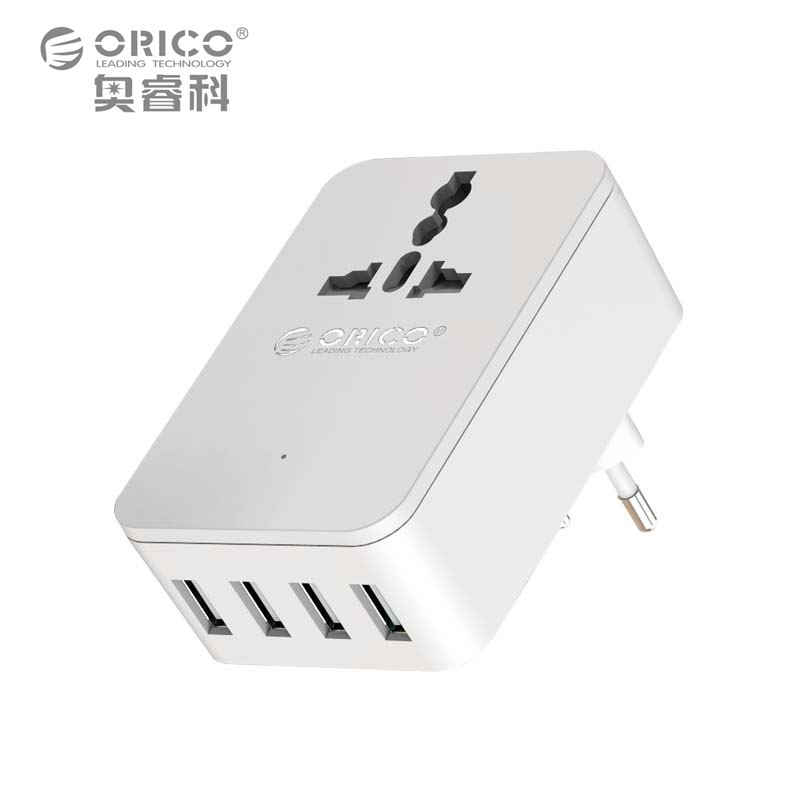 ORICO Universal Power Plug Travel Converting Adapter With 4 USB 1 AC 20W Multi-Outlet Travel Power Strip(China (Mainland))