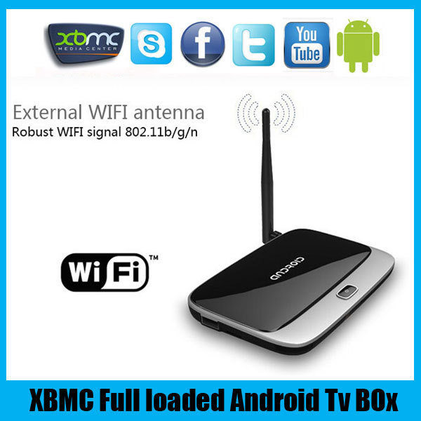 Free shippng Original Android Tv Boxes CS918 XBMC Fully Loaded Rockchip RK3188 Quad Core Android 4.4 1GB/8GB Smart TV BOX(China (Mainland))