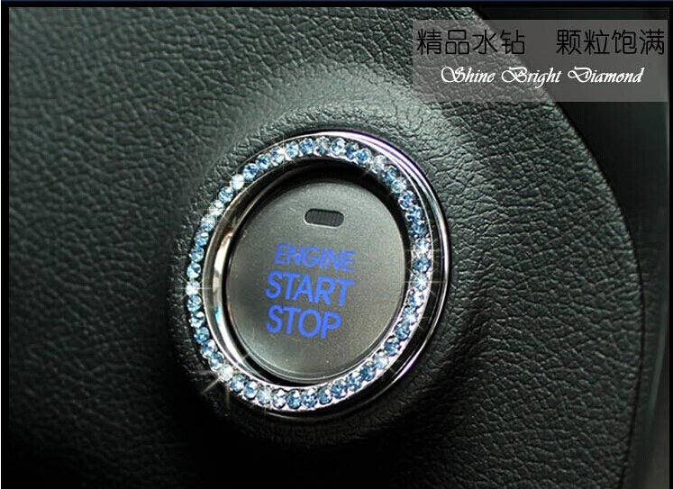 20pcs new Hot Auto Supplies Wholesale Manufacturers Selling Decoration Ring of the Car Key Diamond Decorative Ring of Car Key(China (Mainland))