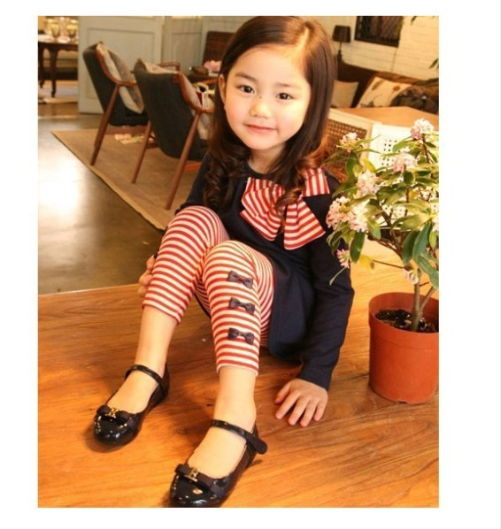 New 2015 autumn children clothing suits girls clothing set child cotton sportswear set girl casual suit Free Shipping(China (Mainland))