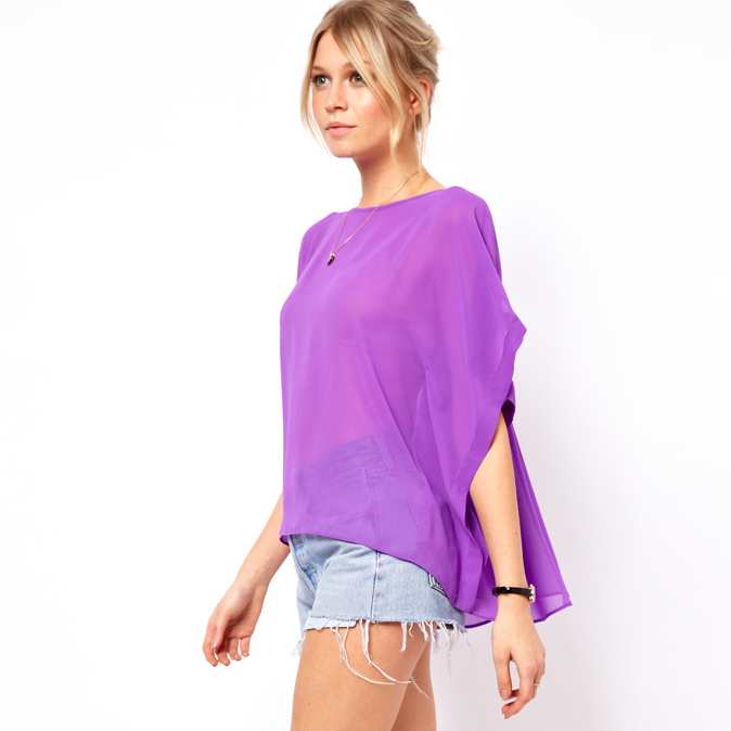 2015 Limited Women Tops Blouses Body Womens Loose Transparent Blouse with Asymmetrical Designing for Wholesale And Freeshipping(China (Mainland))