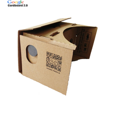 Google Cardboard 2.0 3D VR Glasses Virtual Reality Goggles Oculus Rift DK2 for iPhone 6 4.7 ~ 5.5 inch Android & iOS Smartphone