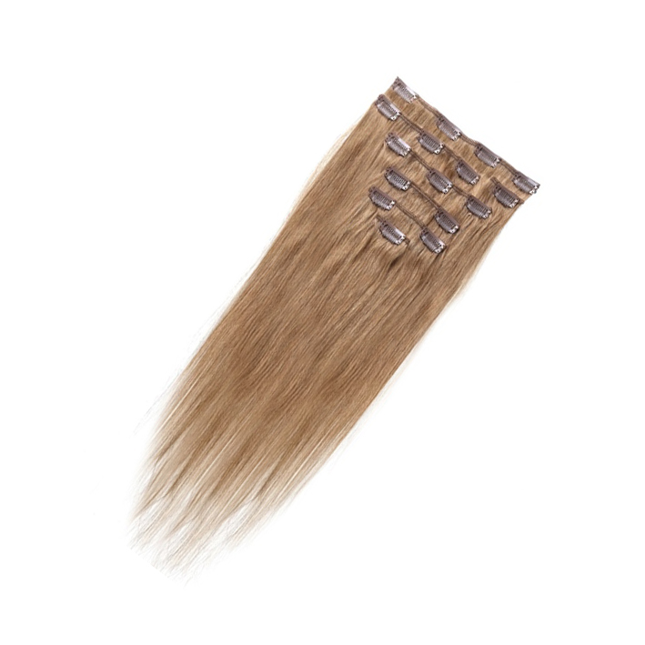 Best Sale Women Human Hair Clip In Hair Extensions 7pcs 70g 20inch Brown
