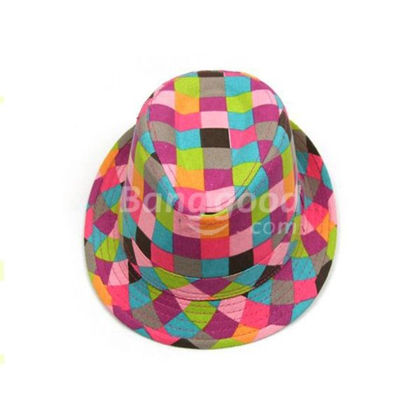 DreamClub Colorful Baby Summer Cowboy Hats Children Jazz Cap Kids Headgear(China (Mainland))