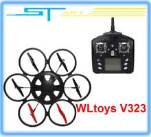 2pcs/lot Free shipping WLtoys V323 2.4G Remote Control Toys 4CH 6 Axis Gyro RC Quadcopter drone Headless Mode RTF VS V2 toy gift