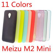 Meizu M2 Mini Case 5 inch Ultra Slim Fit 0.5mm Soft Transparent & Matte TPU Skin Phone Cover for Meizu M2 Mini