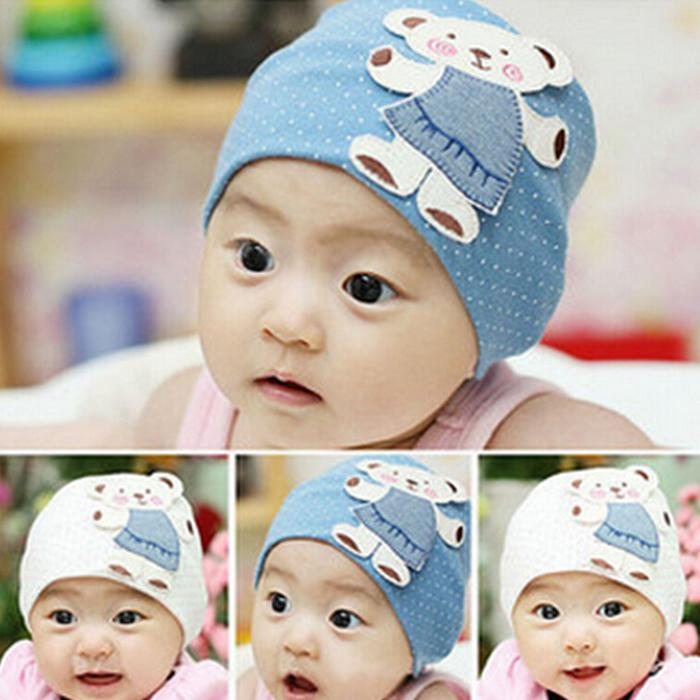 Cute Unisex Autumn Newborn Crochet Baby beanie Hat Girl Boy Cap Infant Winter Bear Cotton Cartoon(China (Mainland))