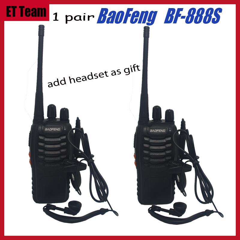 2Pcs/set baofeng BF-888S Walkie Talkie Portable Radio BF888s 5W 16CH UHF 400-470MHz BF 888S Comunicador Transmitter Transceiver(China (Mainland))