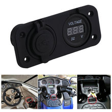 High Quality Car Auto Cigarette Lighter Socket Voltmeter 12V Charger Dual USB Power Adapter YKS(China (Mainland))