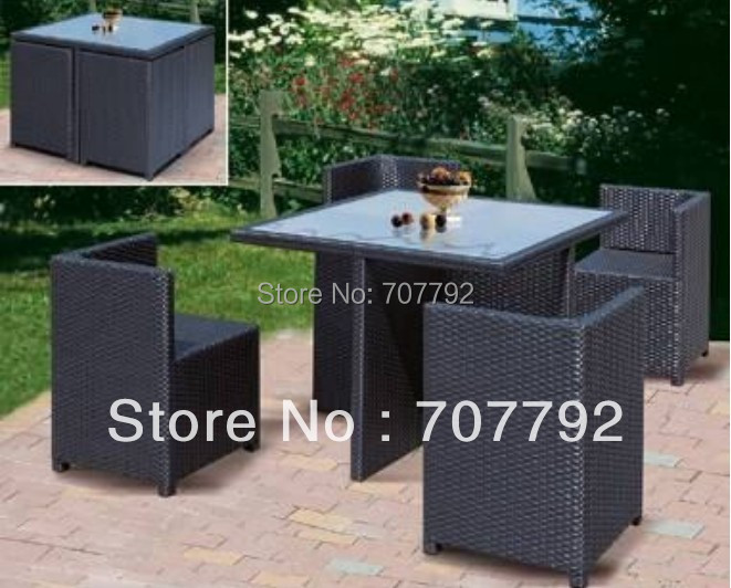 NEW!Saving place rattan dining Furniture Set(China (Mainland))