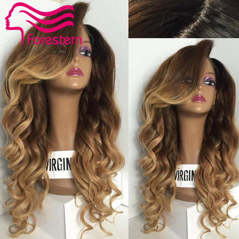 Гаджет  Ombre Lace Front Wig Two Tone Ombre Lace Wig Brazilian Human Hair Full Lace Wigs With Baby Hair For Black Women Free Shipping None Волосы и аксессуары