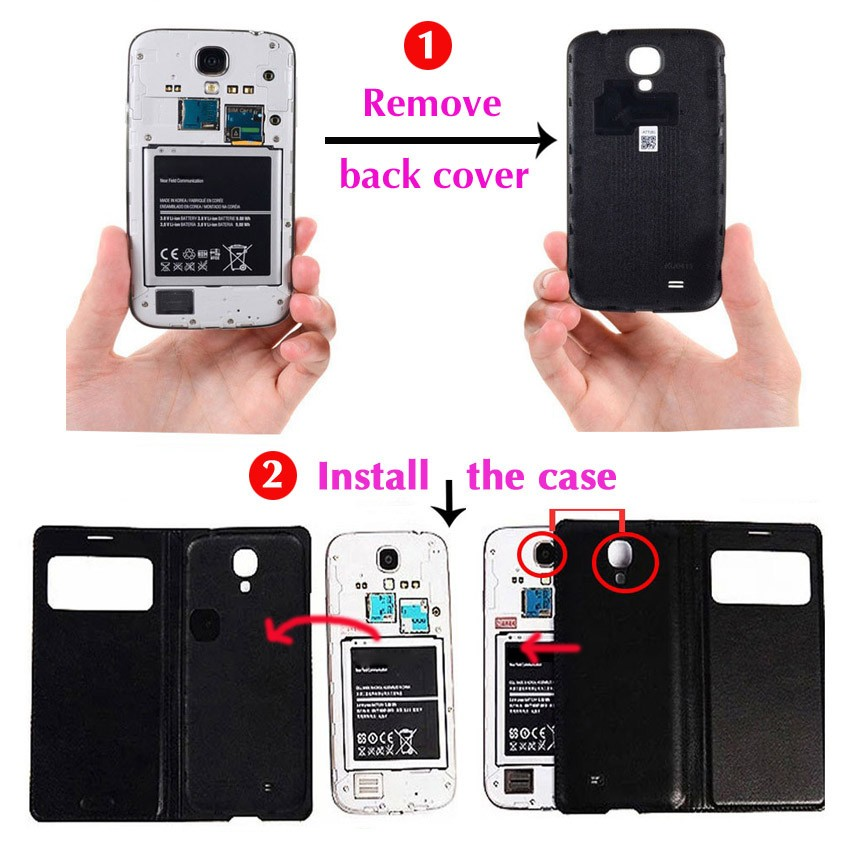 Battery Housing Case Skin Shell Mobile Phone Sleeve Bag Mask Quick Smart Circle View Magnet Flip Cover For LG G 3 G3 D850 D855