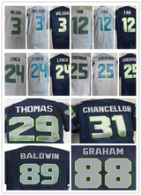 3 Russell 12 12th Fan 24 Marshawn Lynch 25 Richard Sherman 29 Earl Thomas 31 Kam Chancellor 88 Jimmy Graham(China (Mainland))