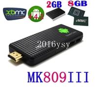 Quad core RK3188 Google TV Box MK809III mini pc Android 4.2.2 2 1gbram 8 GBROM 1.8 GHz Bluetooth Wifi HDMI - Shenzhen Lindsay Technology Co., Ltd. store