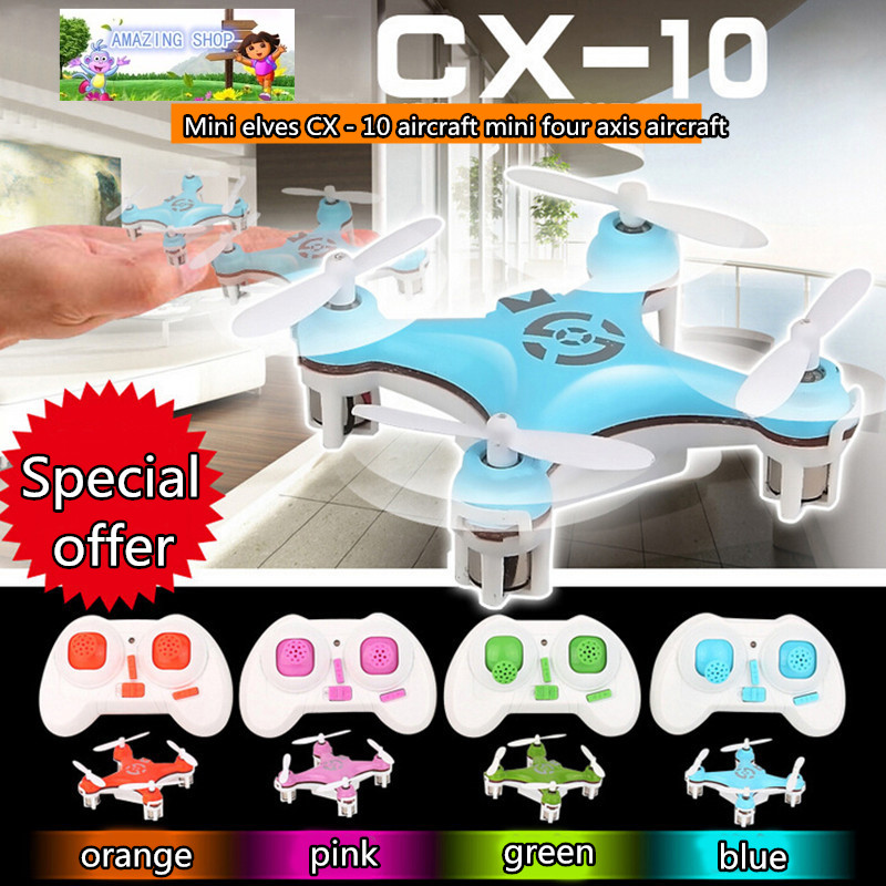Original CX-10 2.4G Remote Control Toys 4CH 6Axis RC Quadcopter Mini rc helicopters Radio Control Aircraft RTF Drone(China (Mainland))