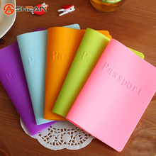 Silicone Candy-colored Passport Dustproof Waterproof Color Passport Holder Passport Cover 1PCS(China (Mainland))