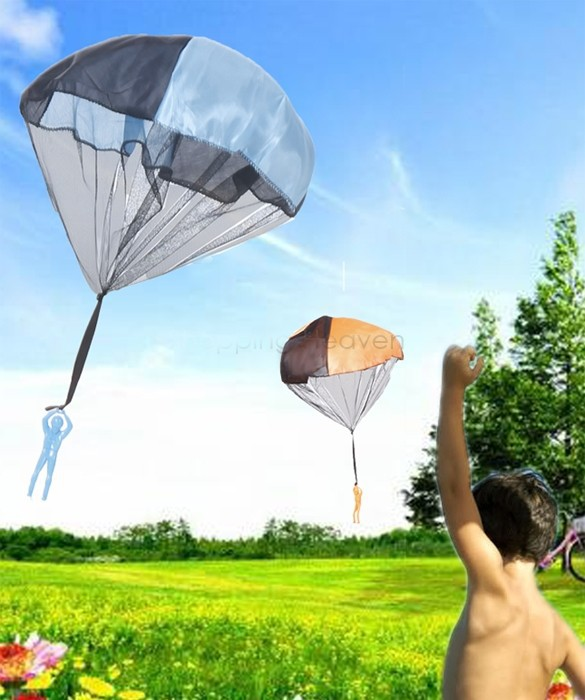 Kids Children Paragliding Parachute Throw and Drop Toys for Boys Set , Outdoor Fun & Sports Campaign Children Learning(China (Mainland))
