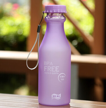 550 ml New Purple scrub plastic my space water bottle outdoors drinking cup bottle for bike wonderful gifts for friends(China (Mainland))