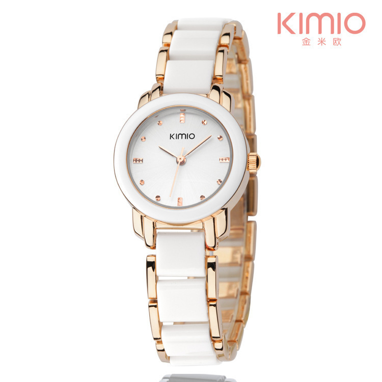 Brand KIMIO Fashion Ceramic Women Watches Luxury Dress Lady Quartz Bracelet Watch Elegant Design ladies Wristwatches