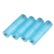4Pcs AAA to AA Size Cell Battery Converter Adaptor Holder Case Switcher Blue NI5L