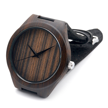 New Styles Maple Wood Watches Men's Luxulry Brand Clock Leather Band Wooden Bamboo Wristwatches In Wood Box
